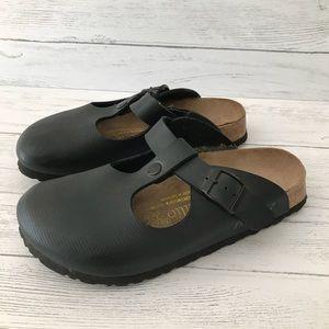 Birkenstock Papillio Black Leather Mules